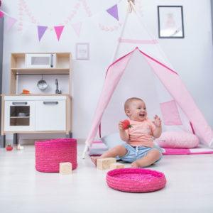 Set Cort de joaca copii Zambete roz