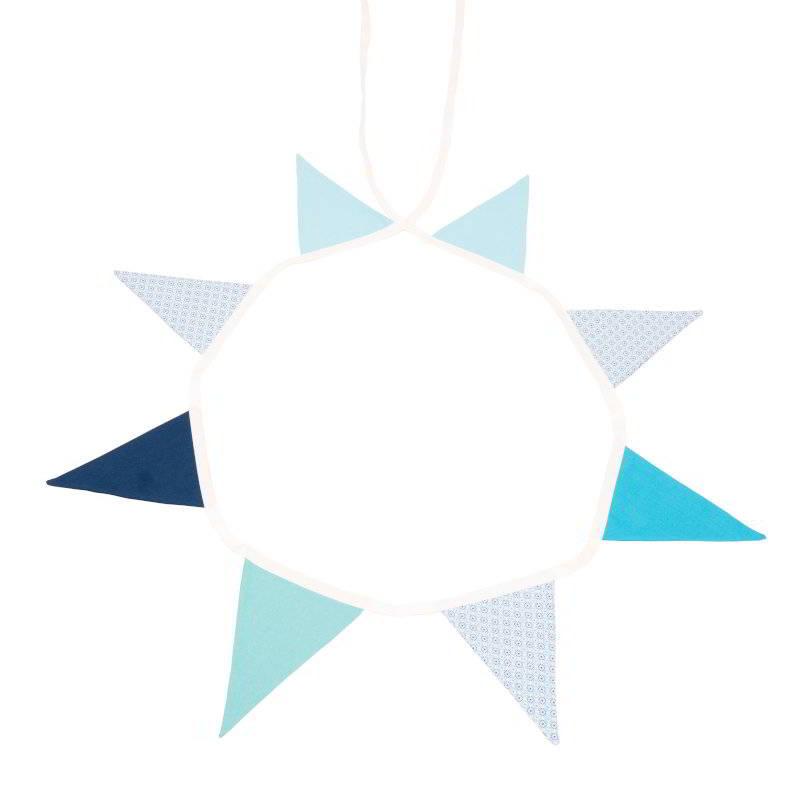 BOUNTY Ghirlanda textila decorativa bleu