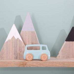 Masinuta mint din lemn - Van - Little Dutch