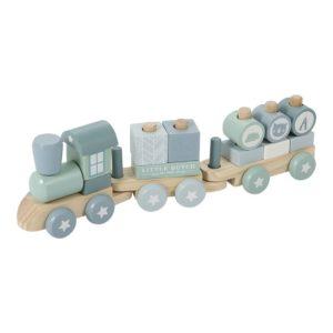 Trenulet bleu din lemn