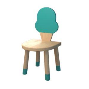 Scaun din lemn in forma de inghetata