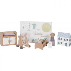 Camera-bebelusului-accesorii-din-lemn-pentru-casuta-de-papusi-Little-Dutch