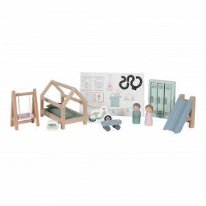 Camera-copilului-accesorii-din-lemn-pentru-casuta-de-papusi-Little-Dutch