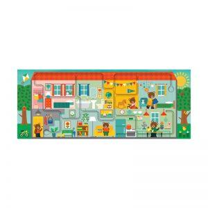 Puzzle cu labirint Casa Noastra - Petit Collage
