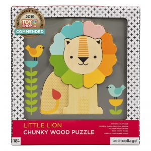 Puzzle din lemn in straturi Micul Leu – Petit Collage