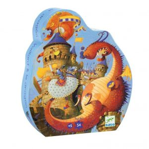 puzzle cavalerul si dragonul