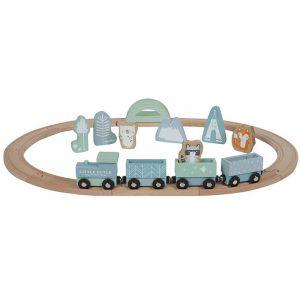 Trenulet din lemn cu sina