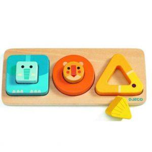 Puzzle din lemn bebelusi