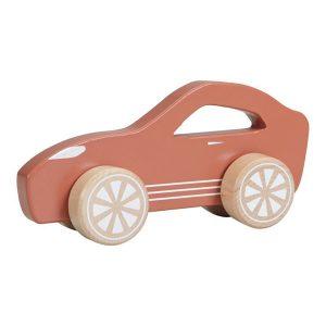 Masinuta sport din lemn, culoare Rosie - Little Dutch