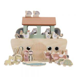 jucarie din lemn arca lui noe
