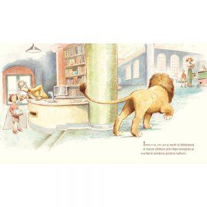 Carte de copii Leul din biblioteca